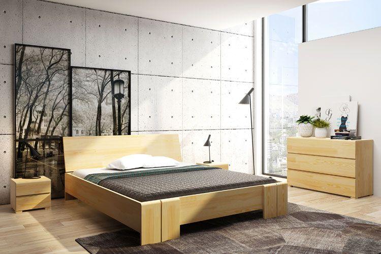 Drewniane łóżko skandynawskie z zagłówkiem Verlos 5X