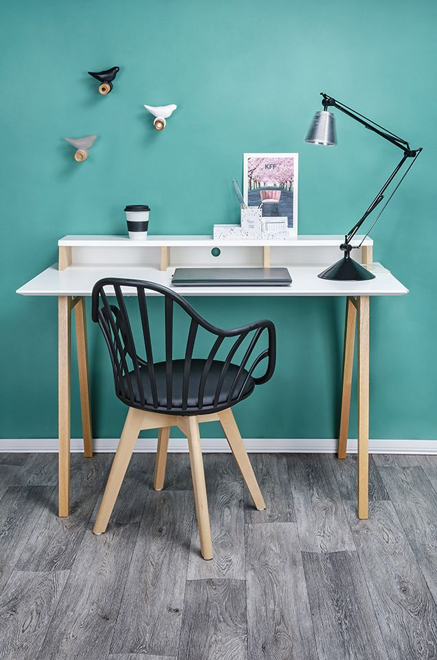 Krzesło patyczak Baltin - czerń i buk