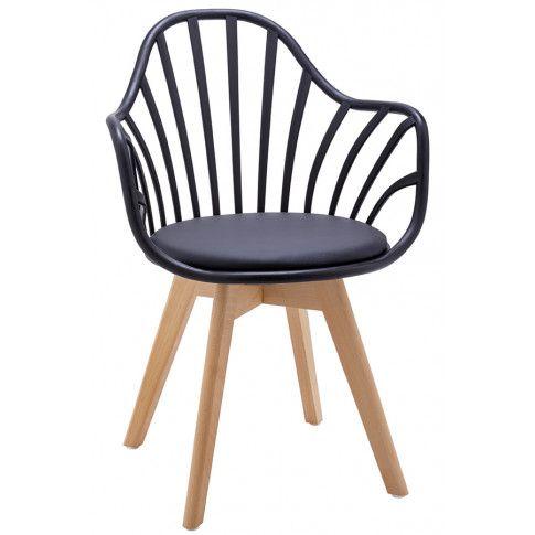 Zdjęcie produktu Krzesło patyczak w stylu retro modern Baltin - czerń i buk.