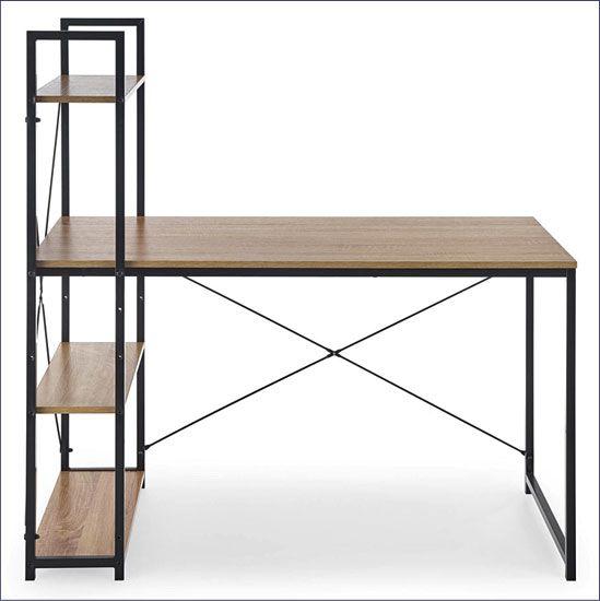 Industrialne biurko Lusso 2X - dąb sonoma.