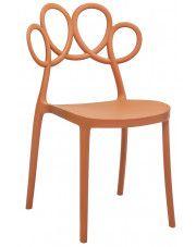 Krzesło ażurowe nowoczesne Fiori - brązowe