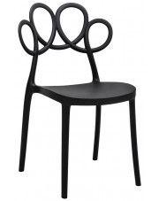 Krzesło ażurowe nowoczesne Fiori - czarne