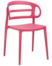 Nowoczesne krzesło kuchenne Tanner - malinowe
