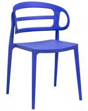Nowoczesne krzesło do jadalni Tanner - ciemnoniebieskie