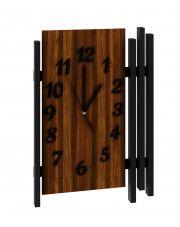 Zegar na ścianę wiszący Tempo - orzech