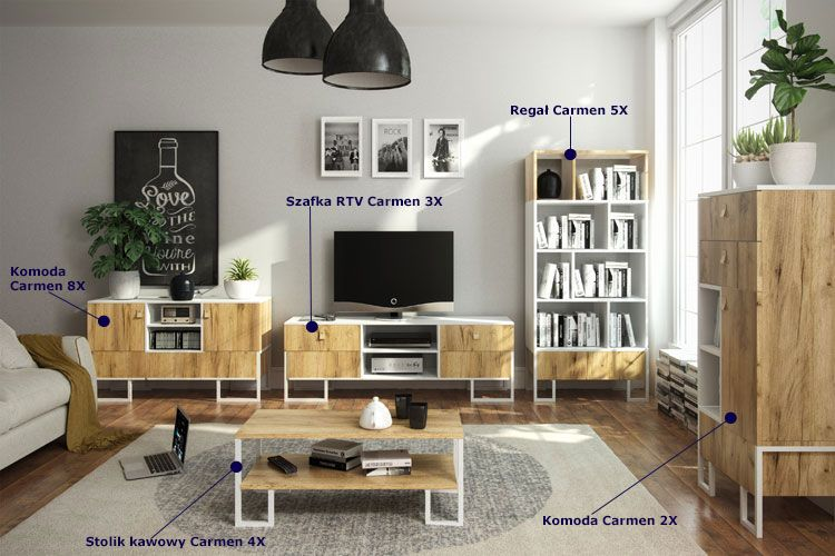 Stolik kawowy w stylu skandynawskim Carmen 4X