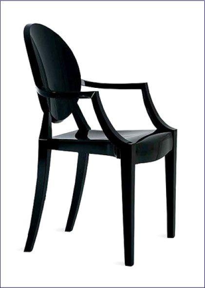 Czarne krzesło do salonu Esper