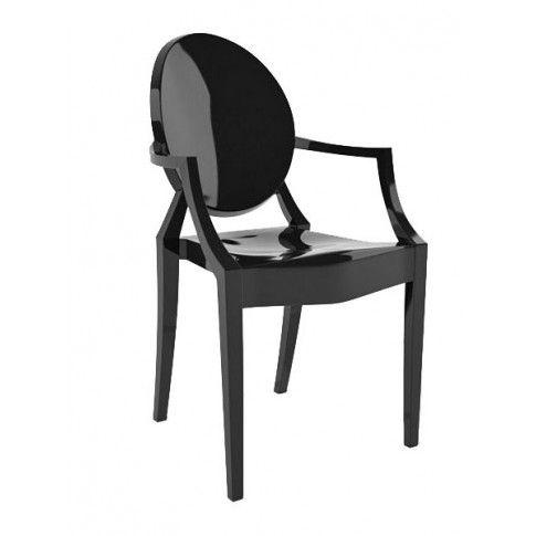 Zdjęcie produktu Krzesło w stylu louis ghost Esper - czarny.