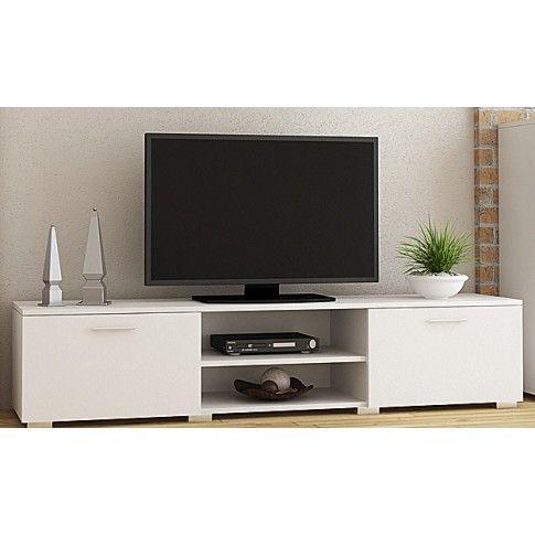 Zdjęcie produktu Biała szafka RTV - Pixelo.