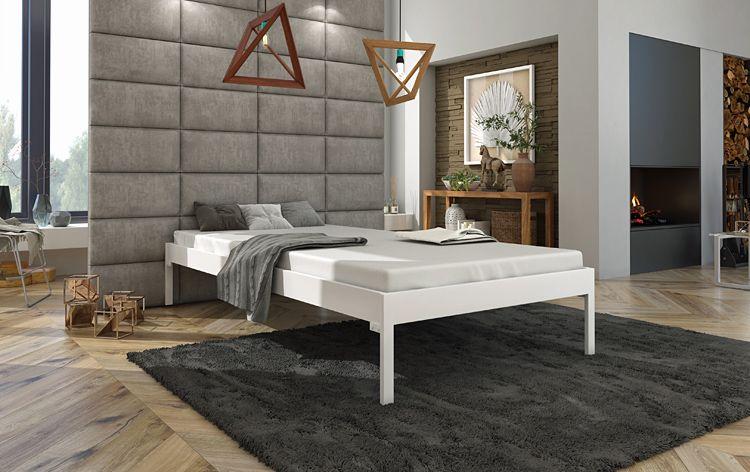Podwójne łóżko metalowe Margo 160x200