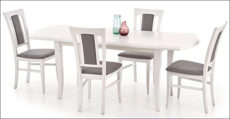 Wizualizacja wnętrza - stół Lister, biały.
