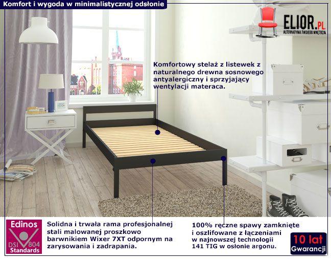 Podwójne metalowe łóżko Dalis 160x200