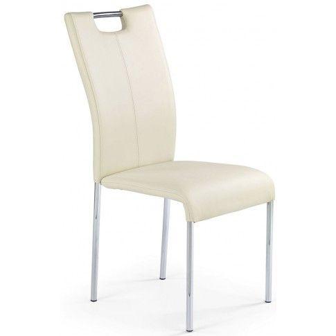 Zdjęcie produktu Krzesło tapicerowane Dante - kremowe.
