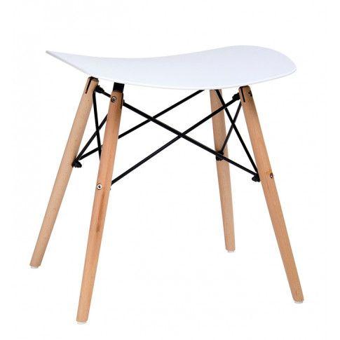 Zdjęcie produktu Taboret w stylu skandynawskim Isla - biały.