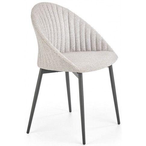 Zdjęcie produktu Nowoczesne krzesło tapicerowane Malika - jasny popiel .