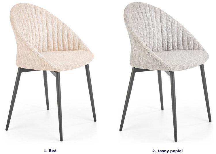 Nowoczesne krzesło do jadalni Malika - popiel.