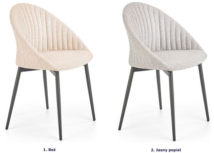 Nowoczesne krzesło do jadalni Malika
