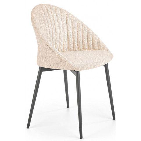 Zdjęcie produktu Nowoczesne krzesło tapicerowane Malika - beż.