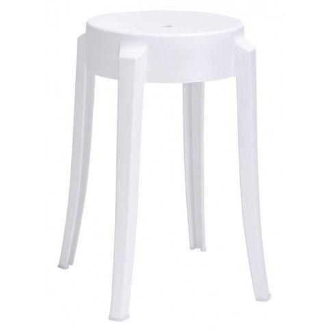 Zdjęcie produktu Nowoczesny okrągły taboret Tolla - biały.