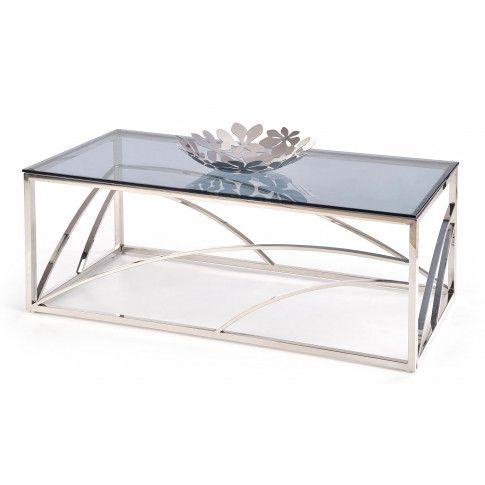 Zdjęcie produktu Szklana ława w stylu glamour Cristal 2X - Srebrna.