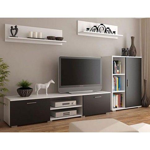 Zdjęcie produktu Meblościanka Pixelo 6X - biało-czarna.