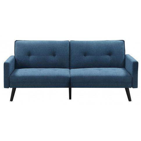 Zdjęcie produktu Rozkładana pikowana sofa Lanila - niebieska.