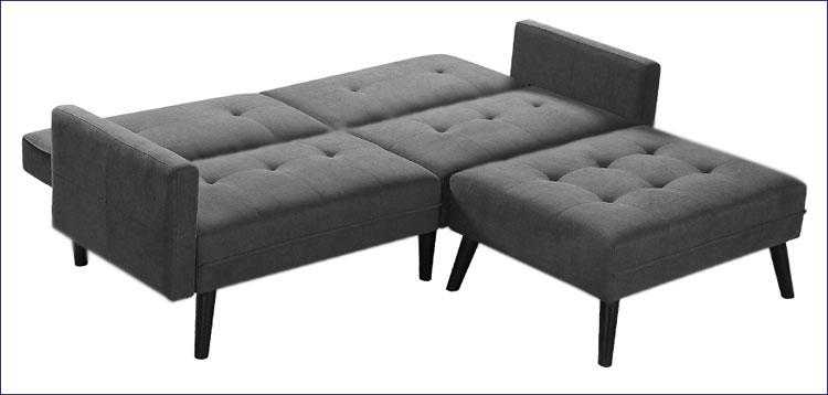 Rozłożona sofa Lanila - popiel.