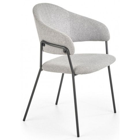 Zdjęcie produktu Nowoczesne krzesło tapicerowane Miloni - jasny popiel.