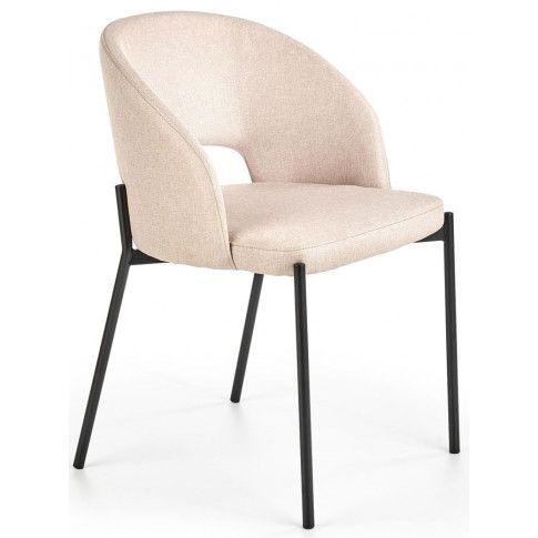 Zdjęcie produktu Tapicerowane krzesło Elba - beżowe.