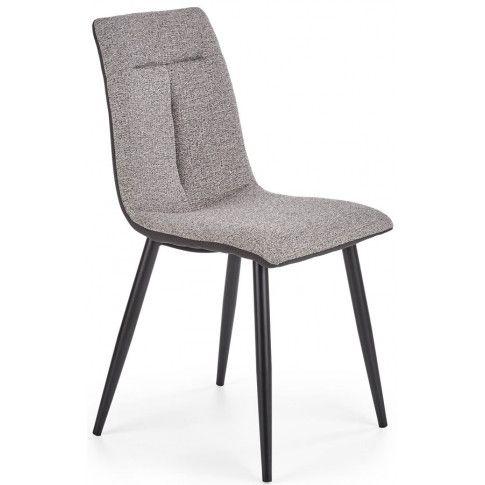 Zdjęcie produktu Nowoczesne krzesło tapicerowane Ottawa - jasny popiel.