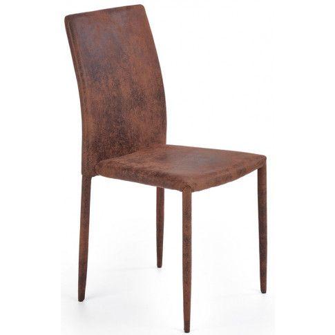 Zdjęcie produktu Tapicerowane krzesło Harry - ciemny brąz.