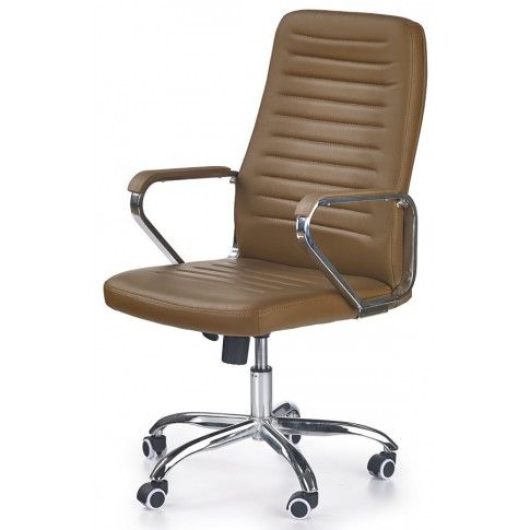 Zdjęcie produktu Fotel obrotowy Tomix - brązowy.