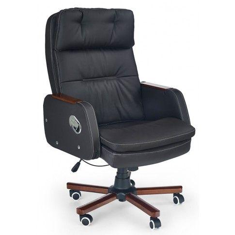 Zdjęcie produktu Fotel obrotowy Kalen - ciemny brąz.