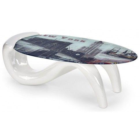 Zdjęcie produktu Ława z panoramą Nowego Jorku Lotta - biała.