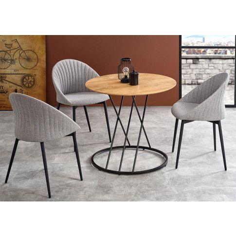 Zdjęcie produktu Okrągły stolik loftowy Lava - dąb.