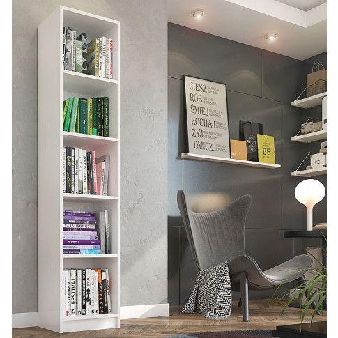 Zdjęcie produktu Regał na książki Nidan 2X - biały.