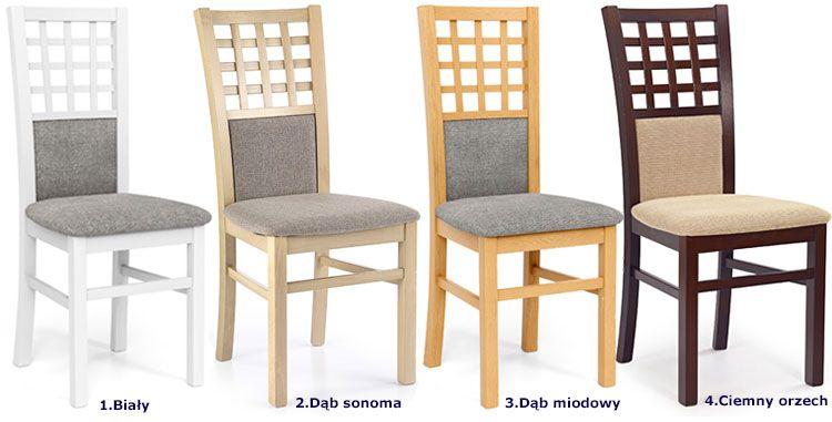 Tapicerowane krzesło drewniane Eddie