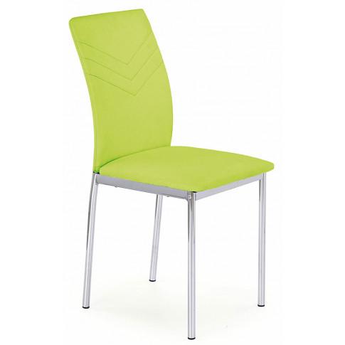 Zdjęcie produktu Krzesło tapicerowane Lincoln - limonka.