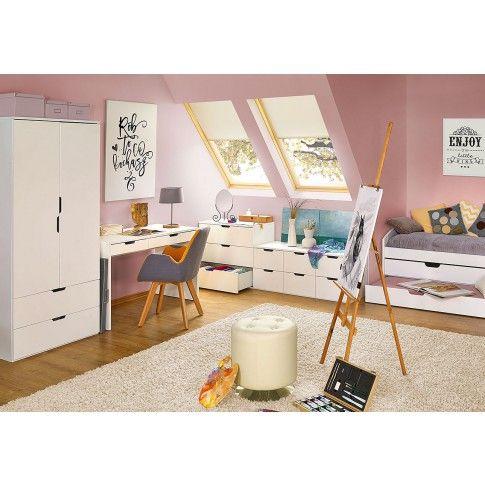 Zdjęcie produktu Meblościanka biały połysk - Foxim 4Z.