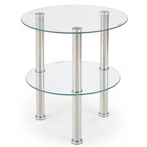 Zdjęcie produktu Okrągła ława szklana Tigra - bezbarwna.