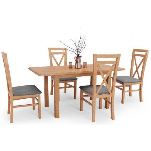 Zdjęcie produktu Stół rozkładany Rafael - dąb kraft.