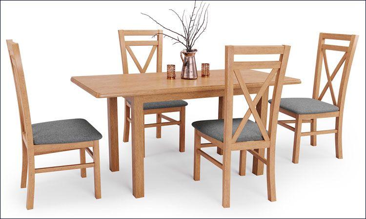Wizualizacja wnętrza - stół Rafael, dąb kraft.