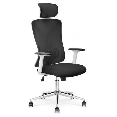 Zdjęcie produktu Nowoczesny fotel gabinetowy Holdi - czarny+biały.