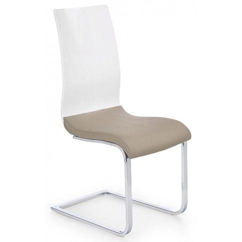 Zdjęcie produktu Krzesło tapicerowane Faran - cappuccino + biały.