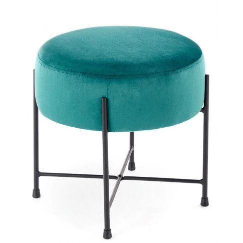 Zdjęcie produktu Pufa tapicerowana okrągła Ringo - zielona.