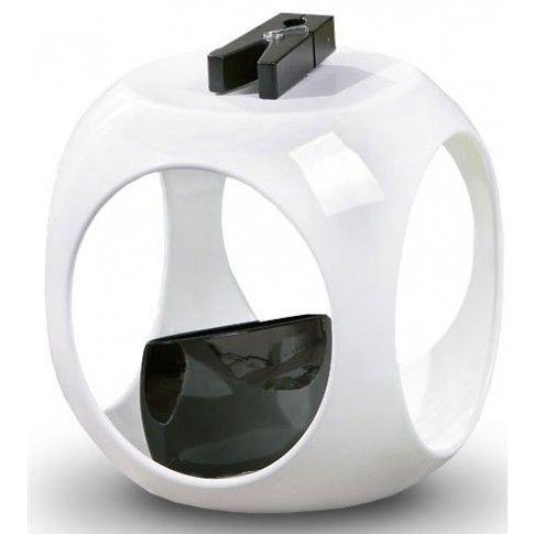 Zdjęcie produktu Lakierowany stolik kawowy Amor - biały połysk.
