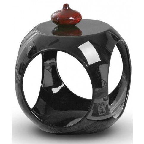 Zdjęcie produktu Okrągły stolik kawowy Amor - czarny połysk.