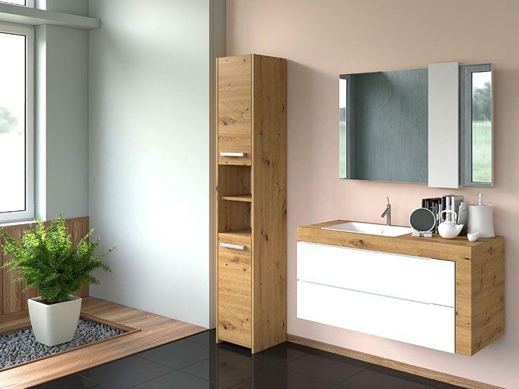Regał słupek do łazienki dąb artisan Tosca 2X