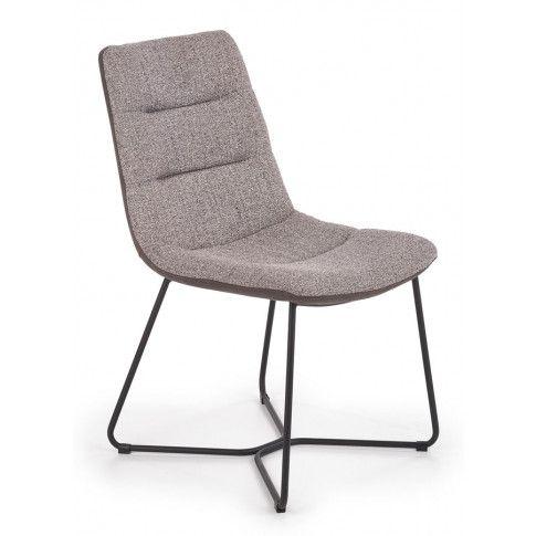 Zdjęcie produktu Loftowe krzesło tapicerowane Mendez - popiel.
