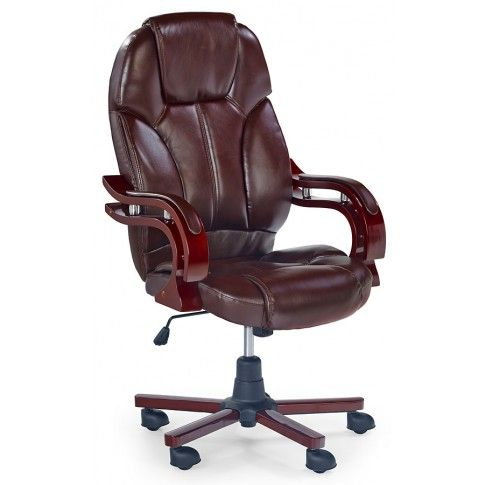 Zdjęcie produktu Fotel obrotowy Aldor - brązowy.